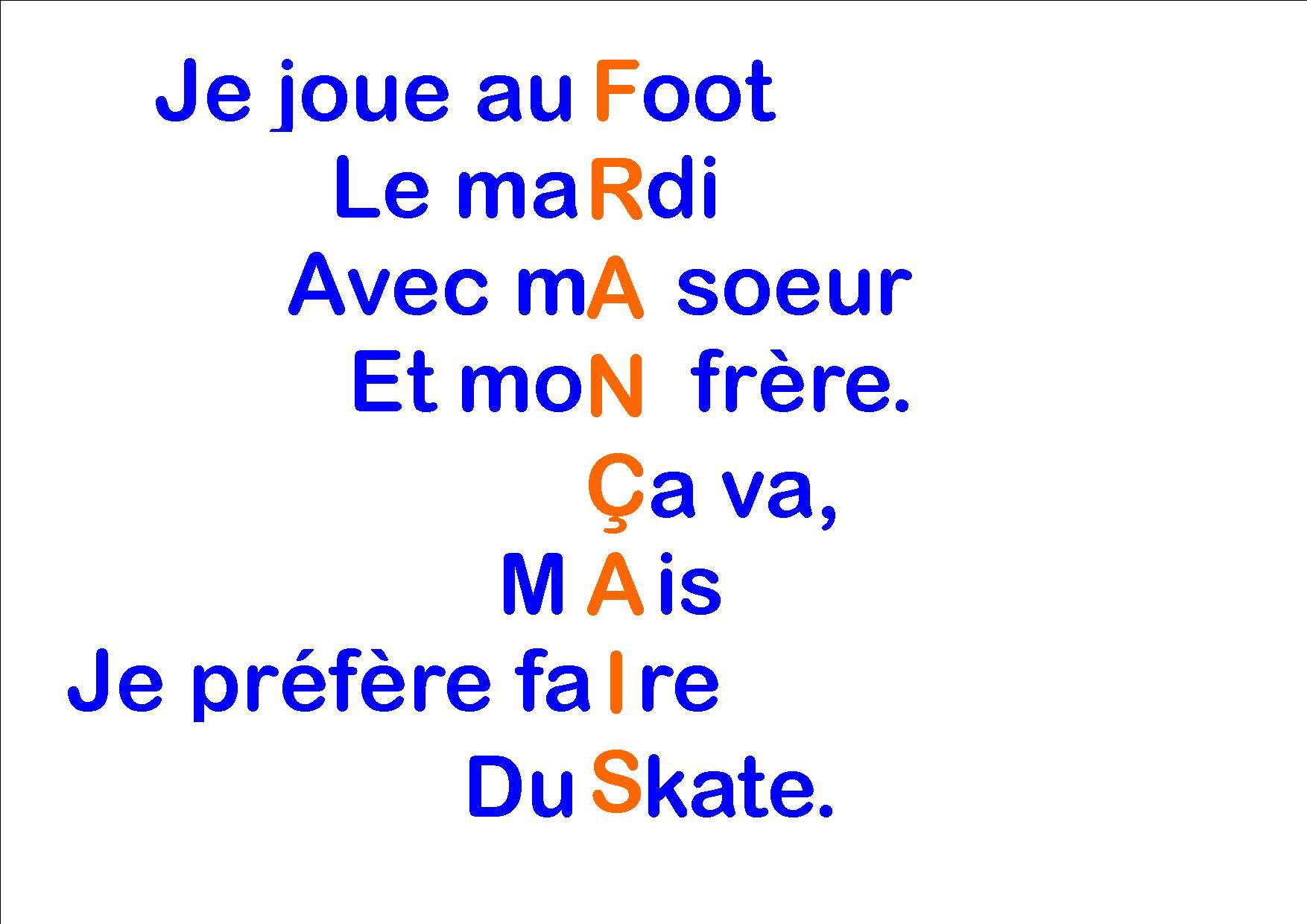 French KS3 Texts