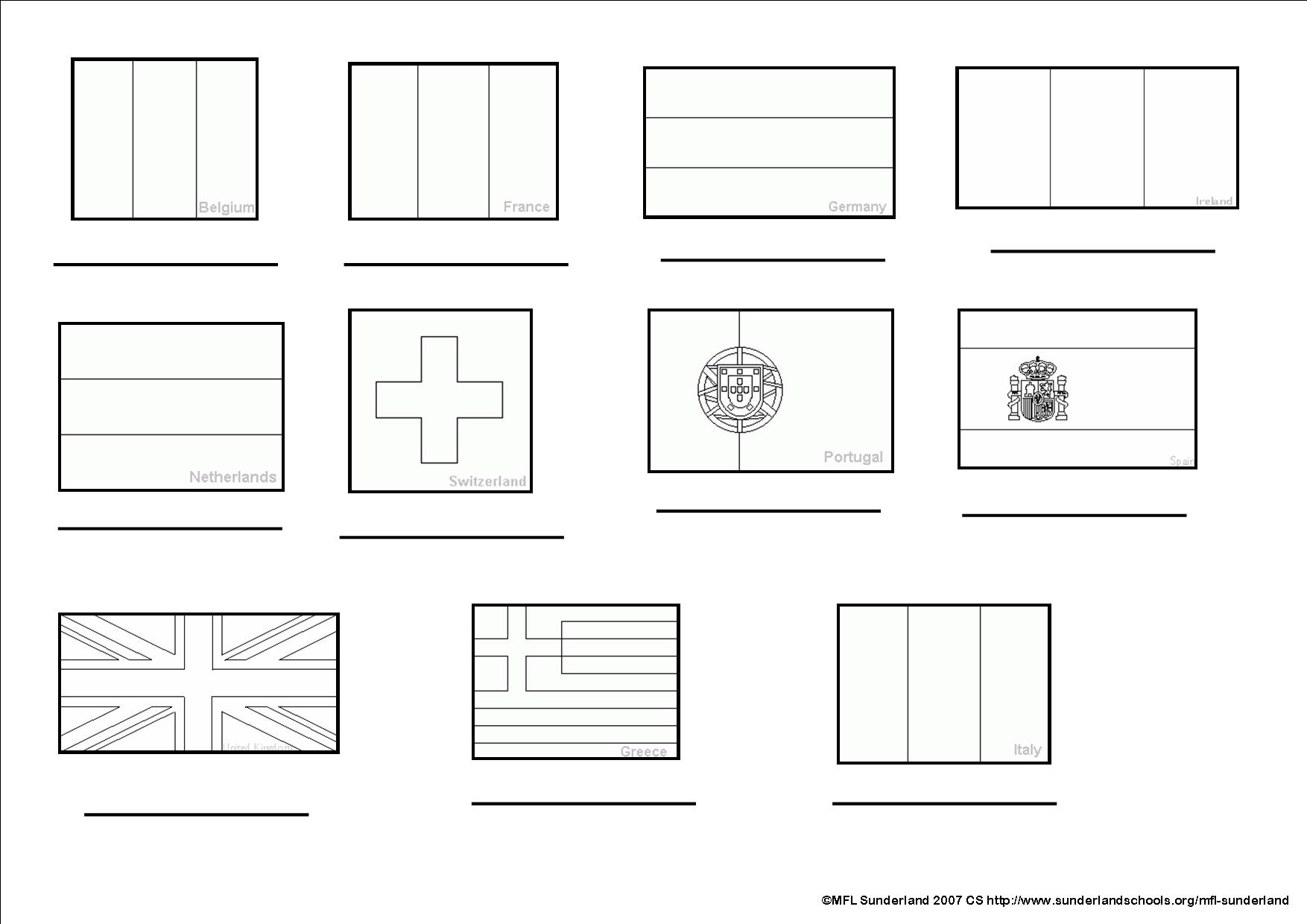 Spanish ks3 worksheets flags to colour in and label jpg 124 kb robcynllc Gallery